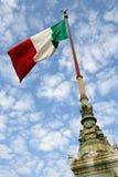 Vlag van Italië Stock Afbeelding