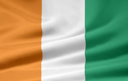 Vlag van Ivoorkust royalty-vrije illustratie