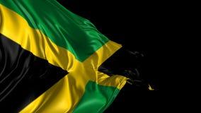 Vlag van Jamaïca stock illustratie