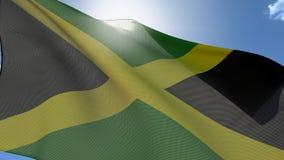 Vlag van Jamaïca royalty-vrije illustratie
