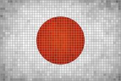 Vlag van Japan Stock Foto