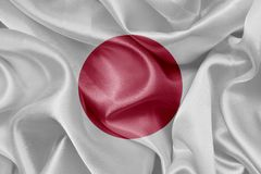 Vlag van Japan stock afbeeldingen
