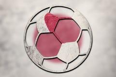 Vlag van Japan van de voetbalbal de nationale De voetbalbal van Japan royalty-vrije stock afbeeldingen
