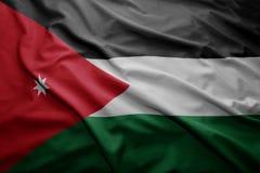 Vlag van Jordanië Stock Foto's