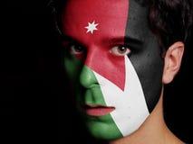 Vlag van Jordanië Royalty-vrije Stock Afbeelding