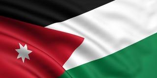 Vlag van Jordanië Stock Afbeeldingen