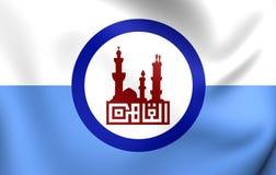 Vlag van Kaïro, Egypte vector illustratie