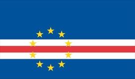 Vlag van Kaapverdië Stock Afbeeldingen
