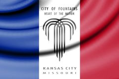 Vlag van Kansas City, Missouri, de V.S. Vector Illustratie