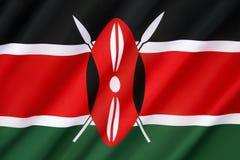 Vlag van Kenia stock afbeeldingen