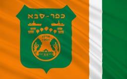 Vlag van Kfar Saba, Israël stock illustratie