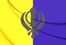 Vlag van Khalistan Royalty-vrije Stock Afbeelding