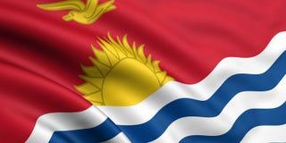 Vlag van Kiribati Stock Afbeeldingen