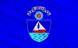 Vlag van Knuppelyam, Israël vector illustratie