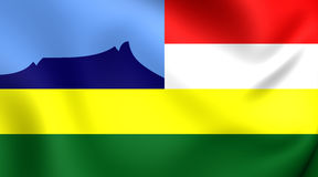Vlag van Kota Kinabalu City Sabah, Maleisië Stock Fotografie