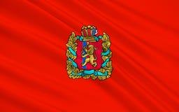 Vlag van Krasnoyarsk-krai, Russische Federatie royalty-vrije illustratie