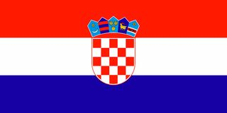 Vlag van Kroatië stock illustratie