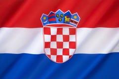 Vlag van Kroatië stock foto