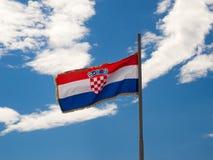 Vlag van Kroatië Stock Afbeeldingen