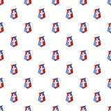 Vlag van kruisvaarderspatroon, beeldverhaalstijl stock illustratie