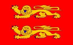 Vlag van Lager Normandië, Frankrijk royalty-vrije illustratie