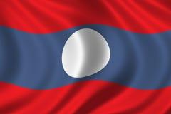 Vlag van Laos Stock Afbeelding