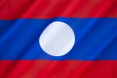 Vlag van Laos Stock Afbeeldingen