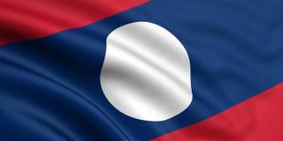 Vlag van Laos Royalty-vrije Stock Afbeelding