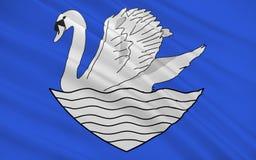 Vlag van Le Blanc, Frankrijk royalty-vrije illustratie