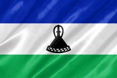 Vlag van Lesotho royalty-vrije illustratie