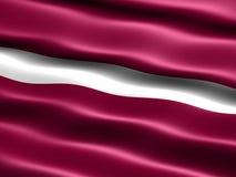 Vlag van Letland Royalty-vrije Stock Foto
