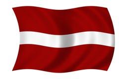 Vlag van Letland Royalty-vrije Stock Foto's