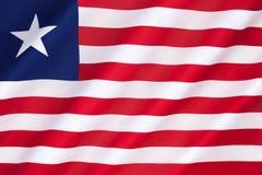 Vlag van Liberia Royalty-vrije Stock Afbeelding