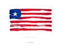 Vlag van Liberia Abstract concept vector illustratie