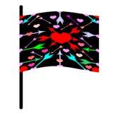 Vlag van liefde Royalty-vrije Stock Afbeeldingen