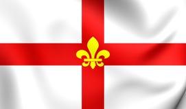 Vlag van Lincoln City Lincolnshire, Engeland Stock Fotografie