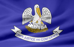 Vlag van Louisiane stock illustratie