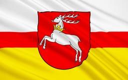 Vlag van Lublin in zuidoostelijk Polen stock fotografie