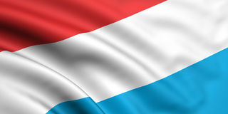 Vlag van Luxemburg Royalty-vrije Stock Foto's