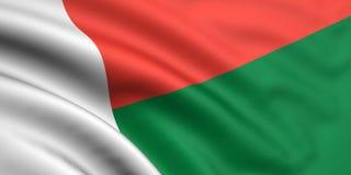Vlag van Madagascar Stock Foto