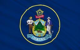 Vlag van Maine, de V.S. Royalty-vrije Stock Afbeeldingen