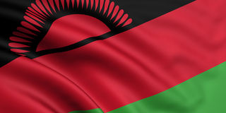 Vlag van Malawi Stock Foto
