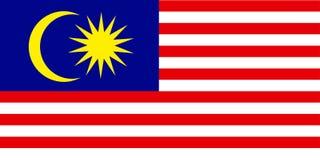 Vlag van Maleisië Stock Foto