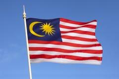 Vlag van Maleisië - Zuidoost-Azië Stock Afbeeldingen