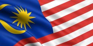 Vlag van Maleisië Stock Fotografie