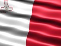 Vlag van Malta Royalty-vrije Stock Foto's