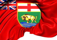 Vlag van Manitoba, Canada Stock Foto