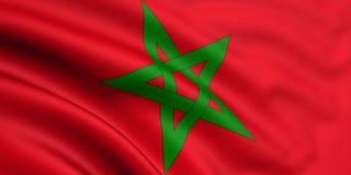 Vlag van Marokko Stock Fotografie