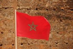 Vlag van Marokko royalty-vrije stock afbeeldingen