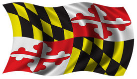 Vlag van Maryland Stock Foto